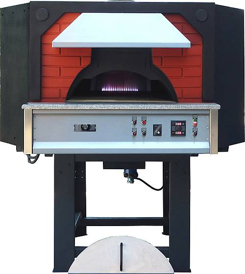 Forno pizza a gas metano base rotante