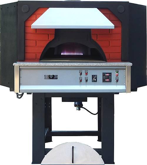 Forno pizza a gas metano base rotante