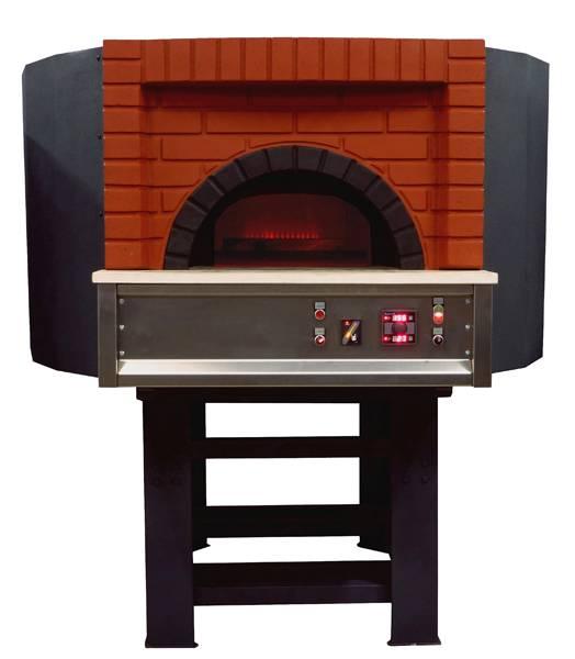 Forno per pizza a gas da incasso con mattoni a vista