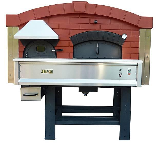 Forno pizza rotante a legna