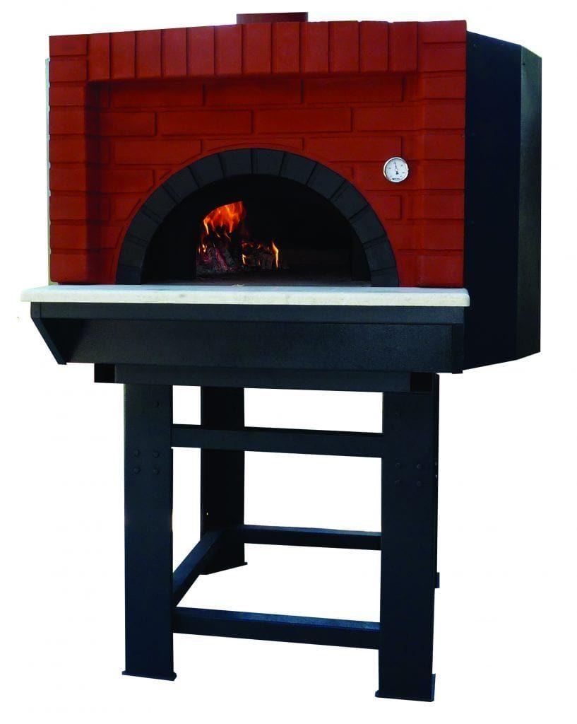 FORNO PIZZA SERIE L DESIGN C mattonelle rosse a vista